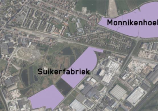 Bedrijventerrein Monnikenhoek en Suikerfabriek